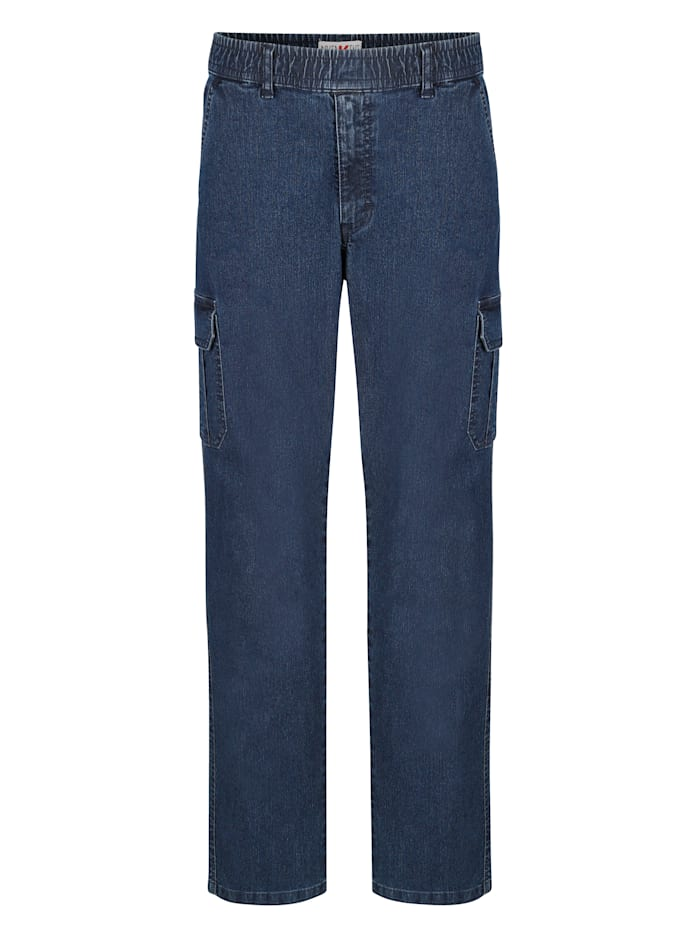 Roger Kent Jeans med resår i midjan, Dark blue