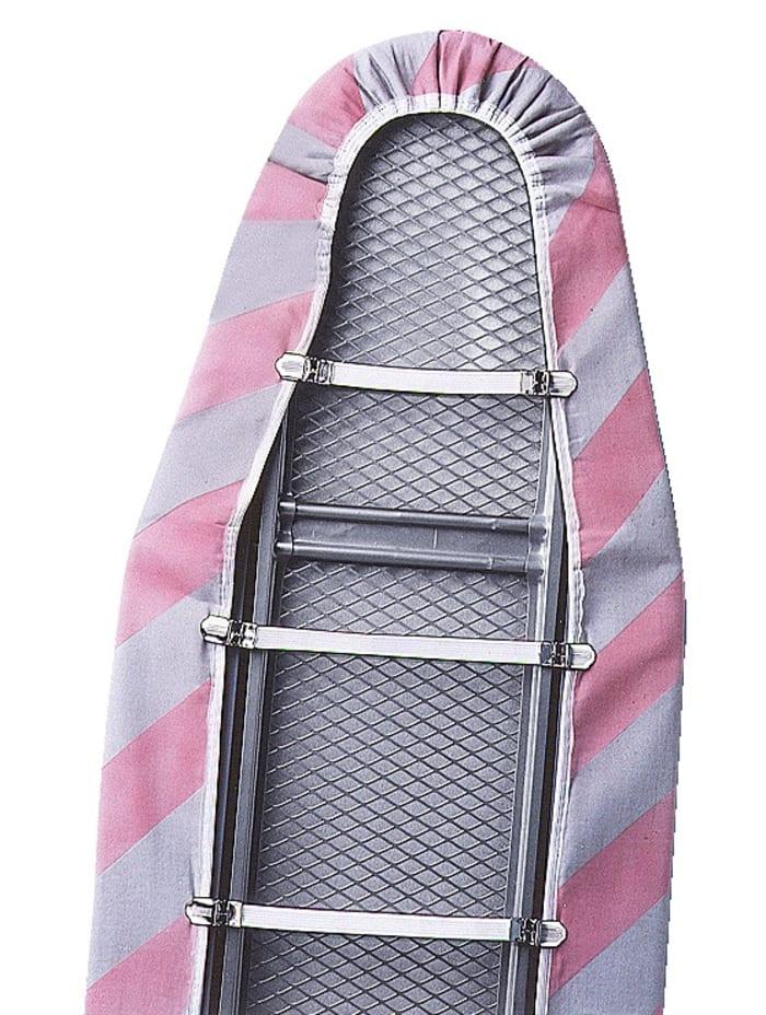 Wenko Set van 6 strijkplankovertrekspanners, naturel