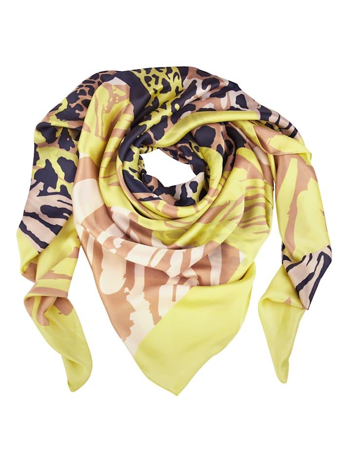 Betty Barclay Sjaaltje met grafisch patroon rondom, geel