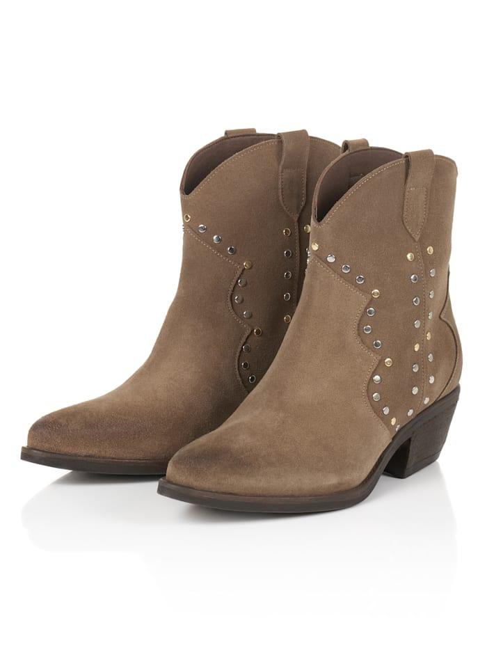 SIENNA Cowboy Boots, Grau