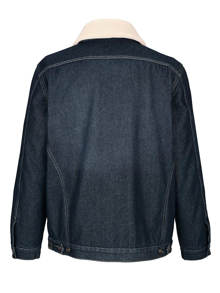 Veste en jean à col en fausse fourrure amovible