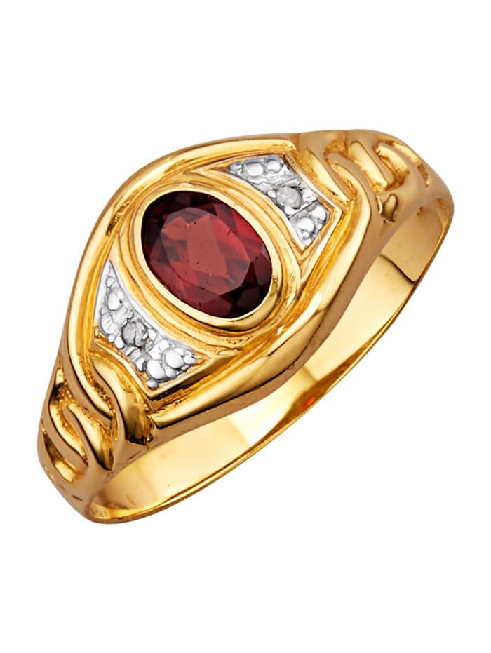 Damenring mit Granat, Rot