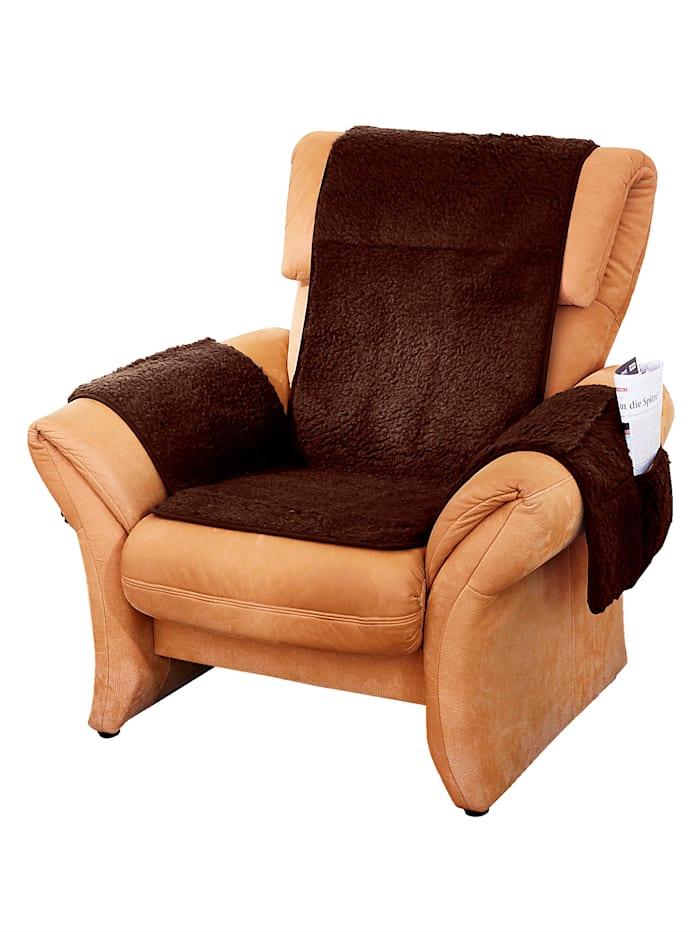 K & N Schurwolle Scheerwollen meubelbeschermer, bruin