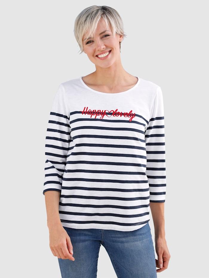Dress In Shirt im Streifendesign, Ecru