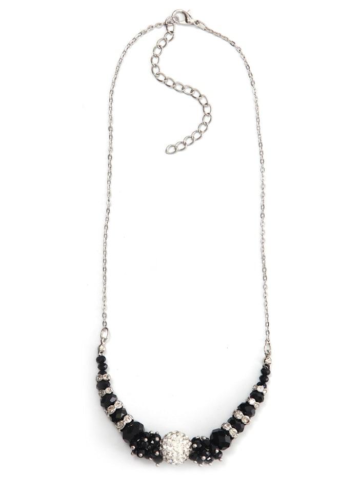 Collezione Alessandro Kurze Kette Miriam mit vielen kleinen Glassteinen, schwarz