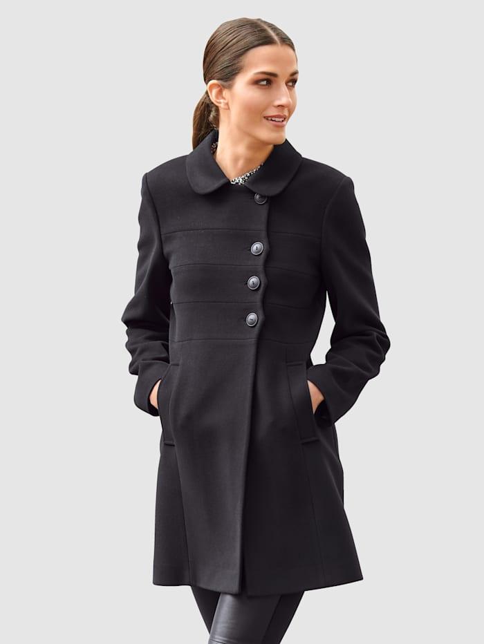 Alba Moda Jacke in modischer Form, Schwarz