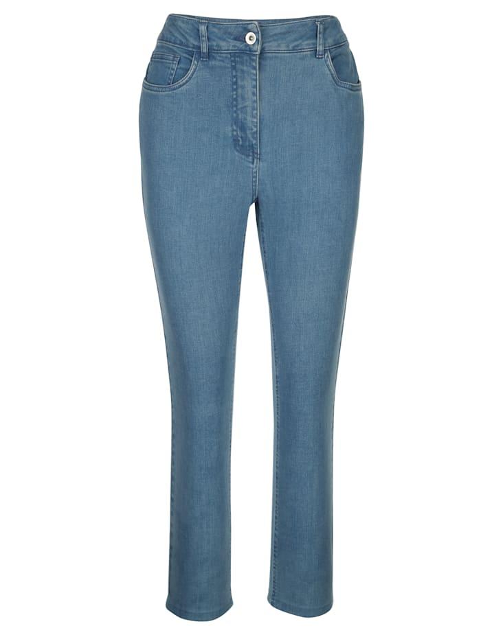 Jeans met ton-sur-ton stitching