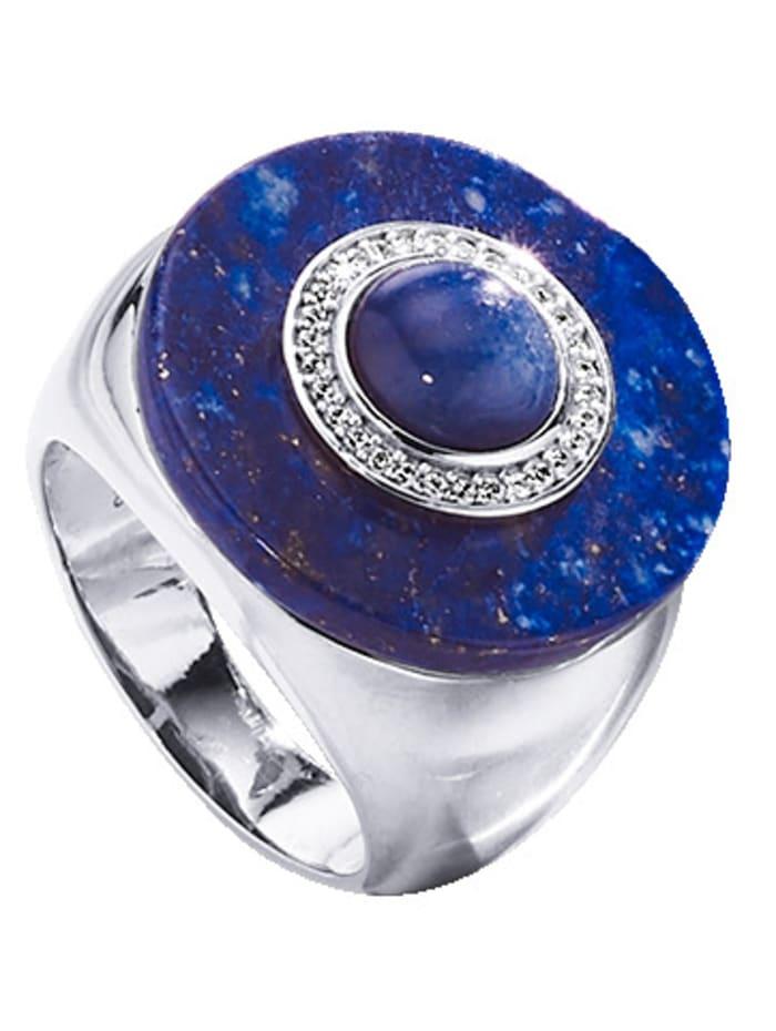 Diemer Farbstein Damenring im Farbsteinmix, Blau