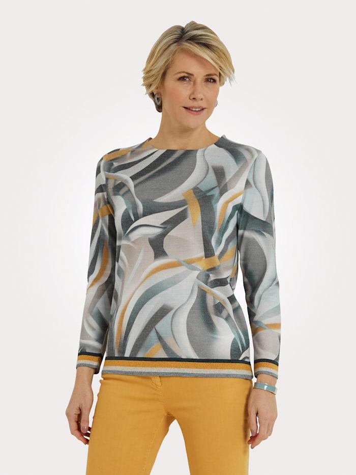 DiStrick Pullover, Gelb/Grau