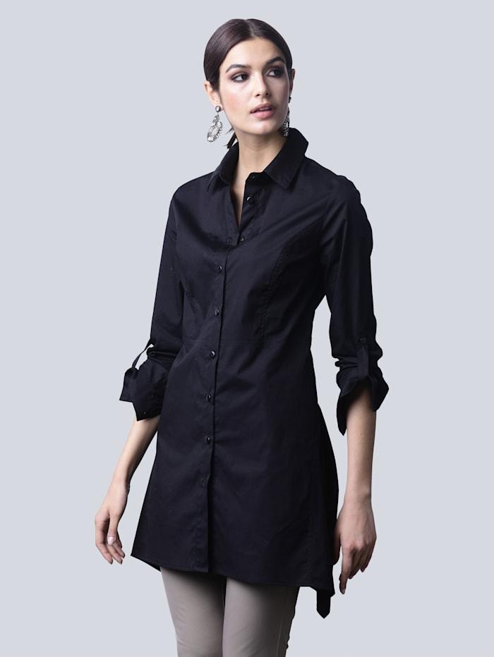 Alba Moda Bluse in angesagter Longform, Schwarz