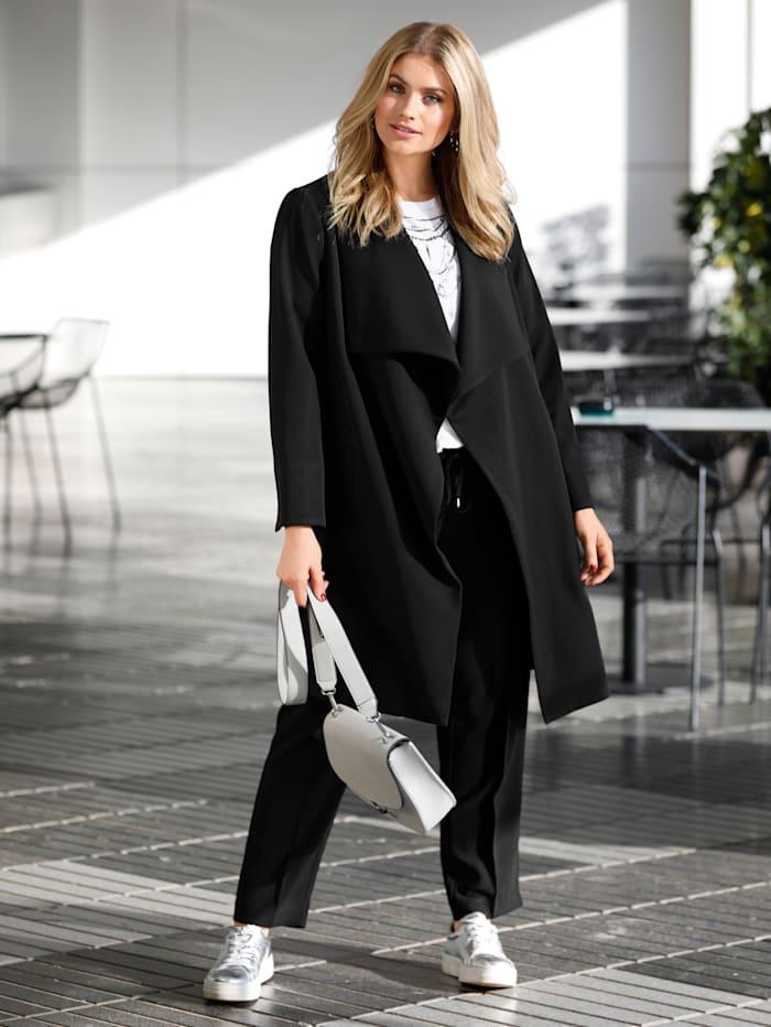Sara Lindholm Jas in elegant model, Zwart