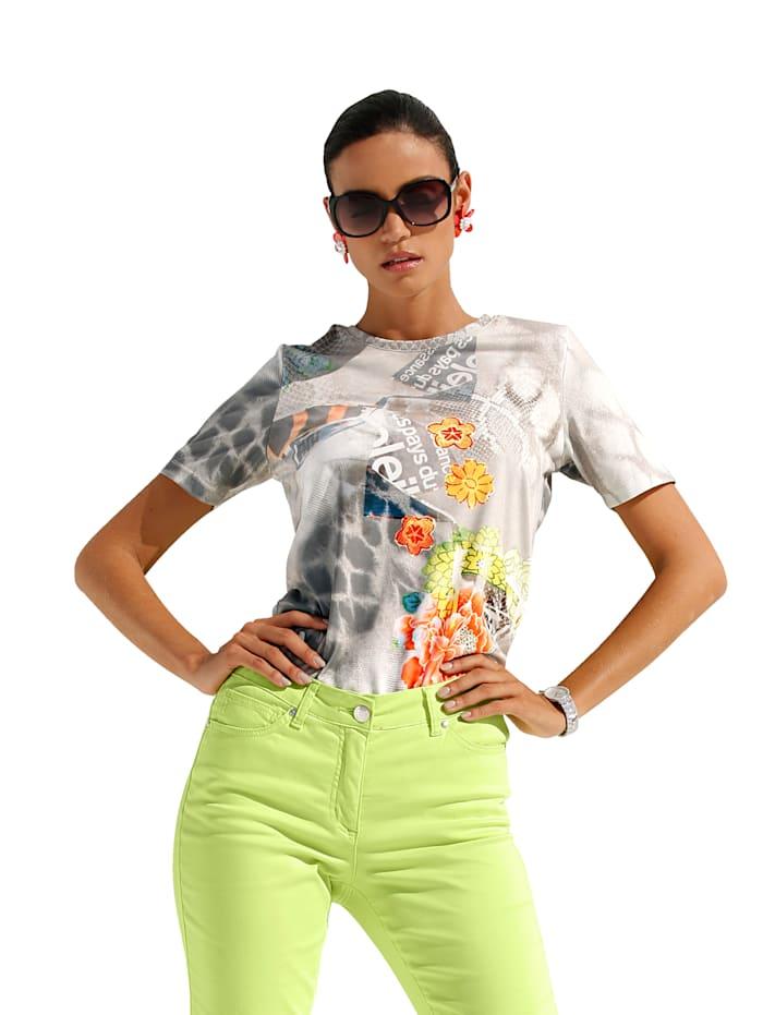 AMY VERMONT Shirt met print rondom, Multicolor