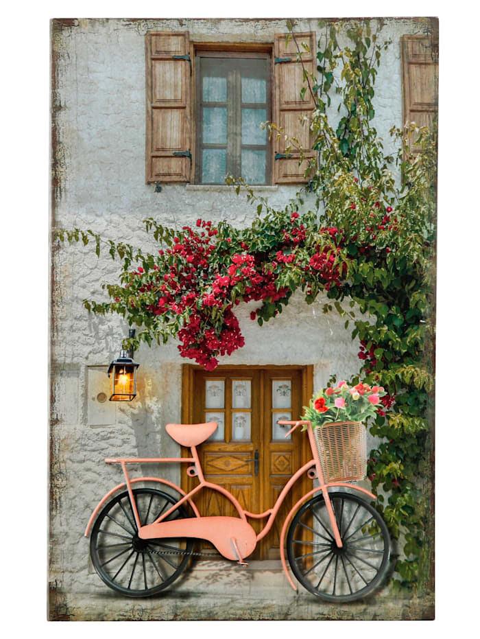 LED-Bild Fahrrad, mehrfarbig