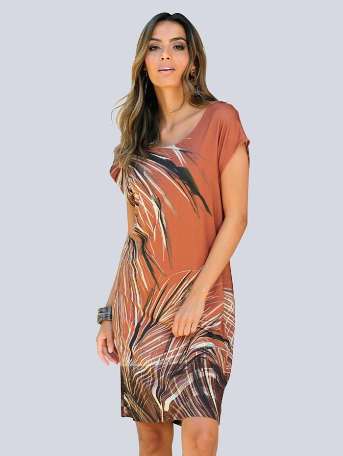 Alba Moda Strandkleid im unkompliziertem Style, Karamell