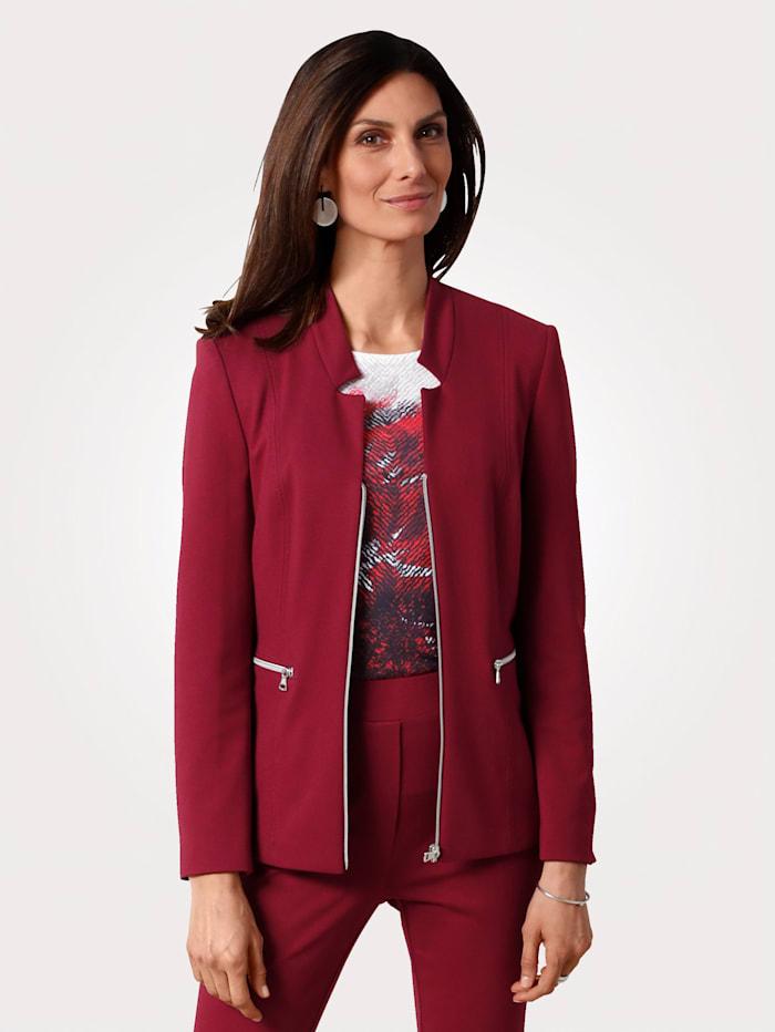 MONA Blazer made from jersey, Bordeaux