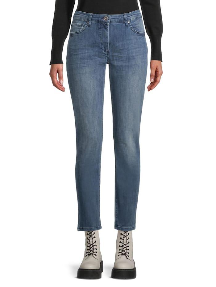 Basic-Jeans mit Waschung