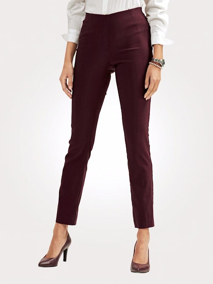 MONA Pantalon en matière extensible, Bordeaux