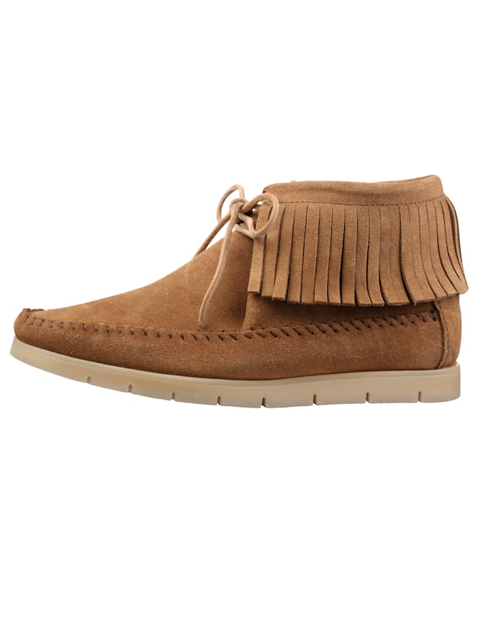 Ankle boots in a moccasin-style finish