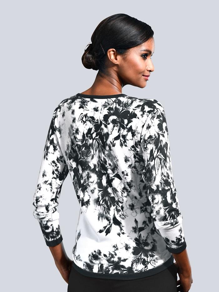 Pullover in exclusivem Alba Moda-Print