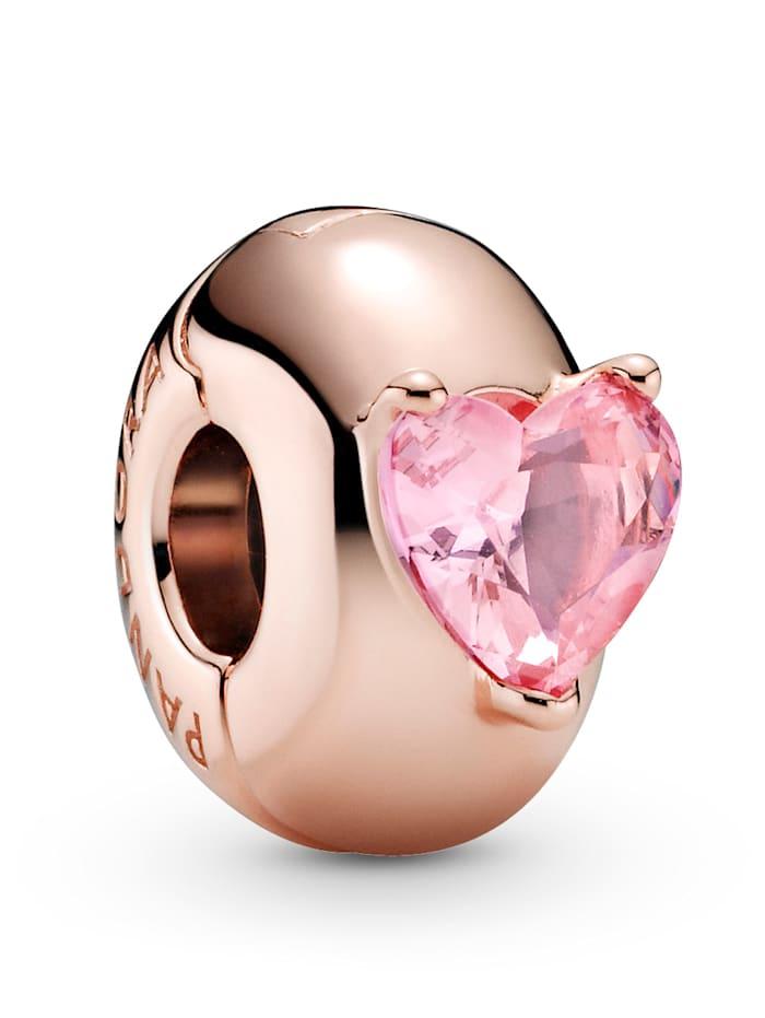 Pandora Clip-Charm - Rosafarbenes Herz Solitär - 789203C01, Rosé
