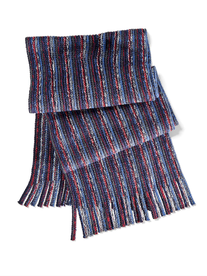 BABISTA Sjaal met franjes, blauw/rood