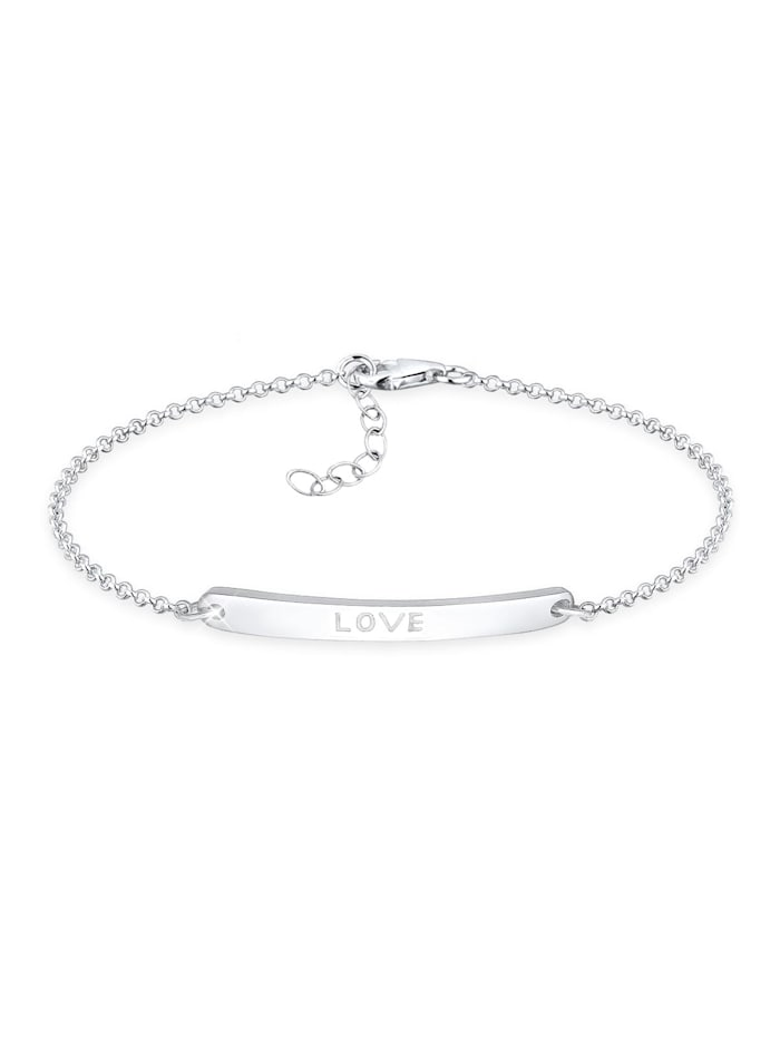 Elli Armband Love-Schriftzug 925 Sterling Silber, Silber