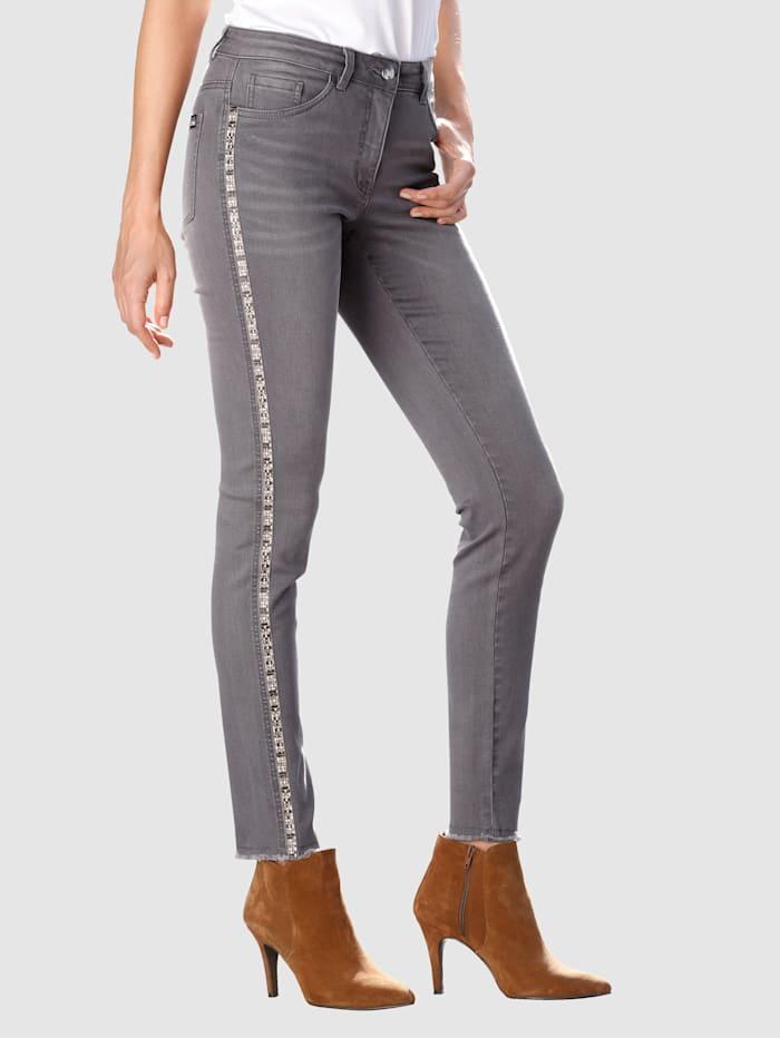 Laura Kent Jeans Laura Extra Slim – med dekorband, Grey