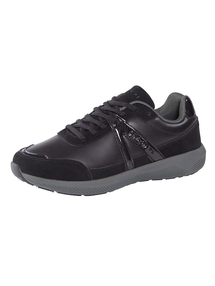 24 Hours Sneaker met 3-componenten-tussenzool, Zwart