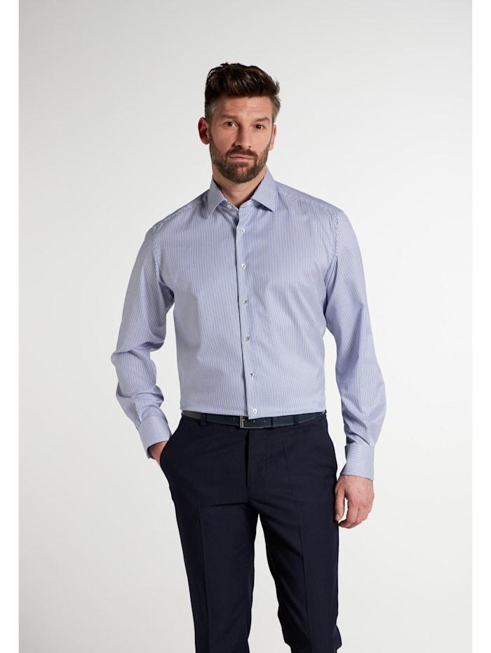 Eterna Eterna Langarm Hemd COMFORT FIT, blau/weiss