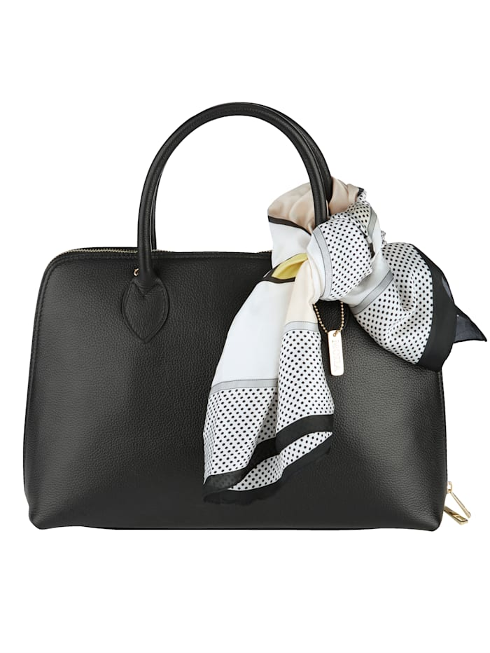 MONA Handväska med avtagbar scarf, svart