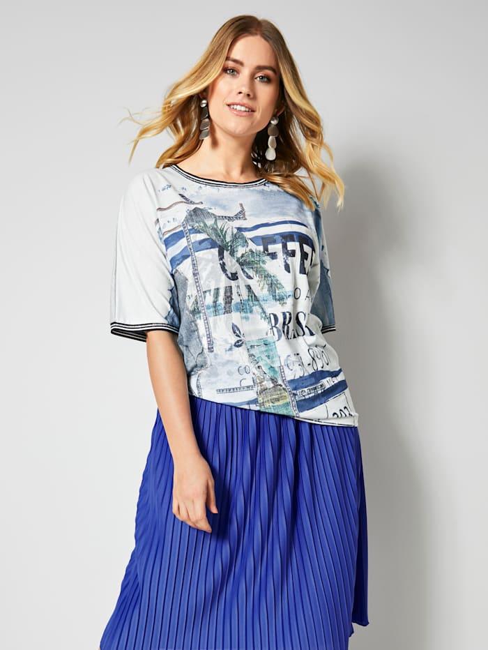 Shirt met mix van dessins