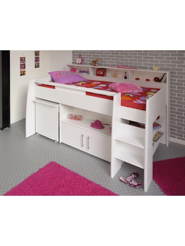 """Parisot Multifunktionshochbett mit Schreibtisch """"Swan 1"""", Weiß"""