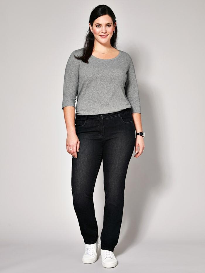 Janet & Joyce Slim Fit Jeans, Schwarz