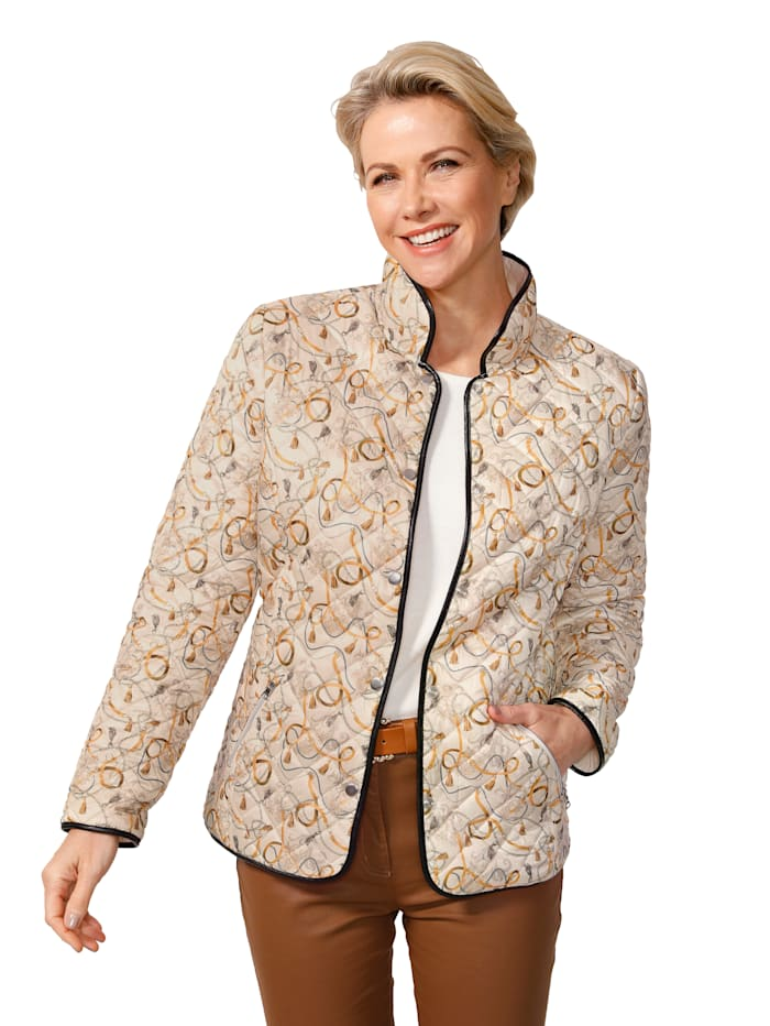 Keerbare jas met kettingprint