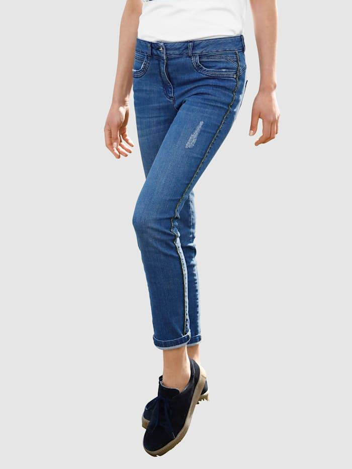 Dress In Jeans med fine sidedetaljer, Blå