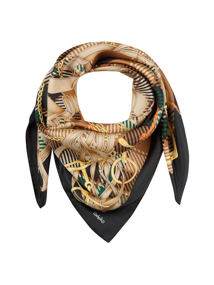 Codello Großes Seidentuch mit elegantem Foulard-Muster, camel