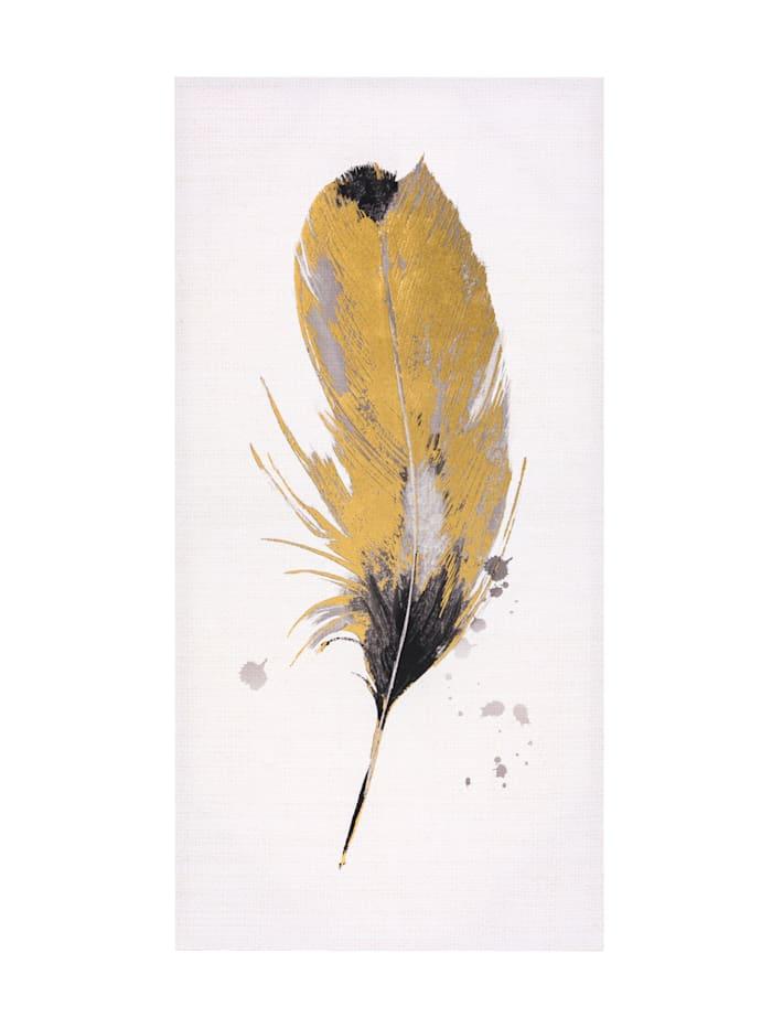 MARAVILLA Bild, weiß/goldfarben/schwarz