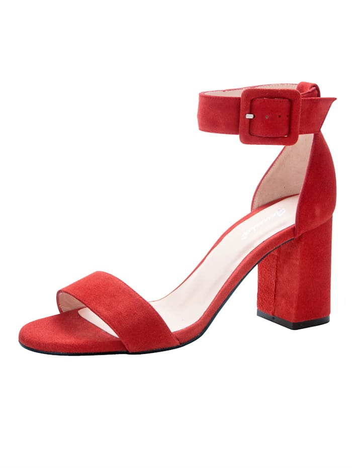 Gennia Sandals Made from high-quality suede, Red