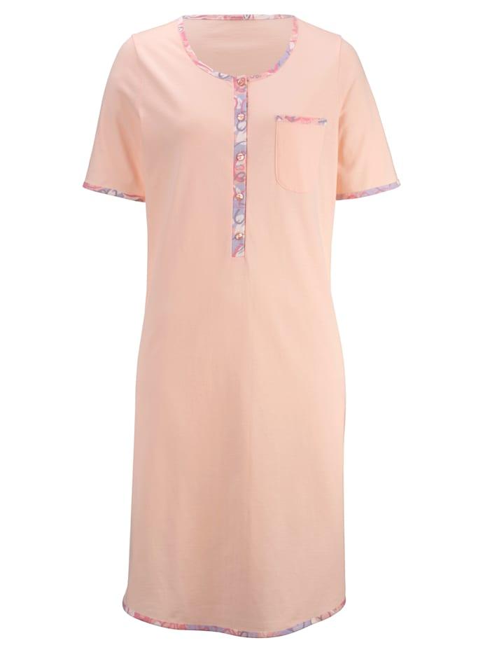 Nachthemd mit dekorativer Brusttasche 2er Pack