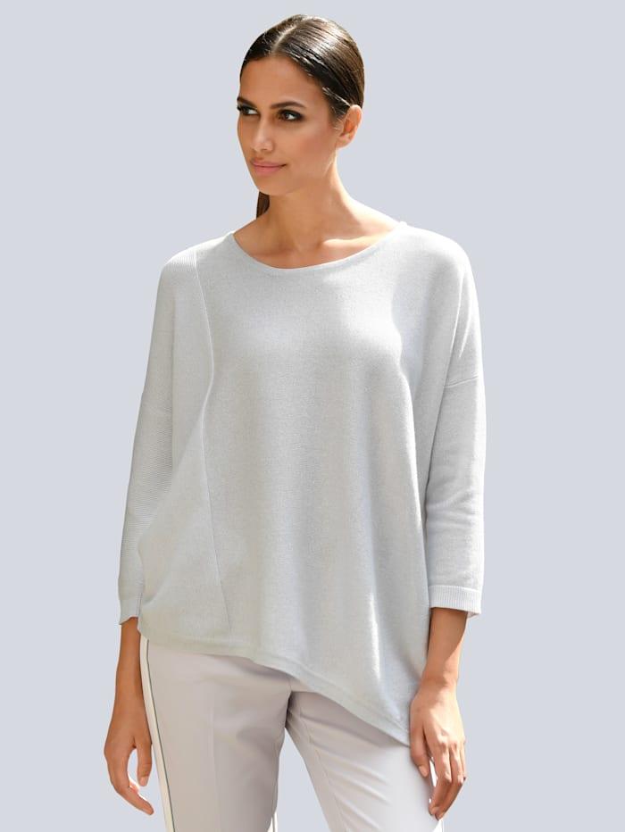 Alba Moda Pullover mit Glanzgarn, Grau/Silberfarben
