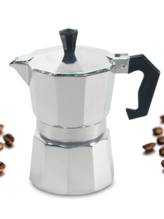 Krüger Alu Espressokocher 3 Tassen, Alu