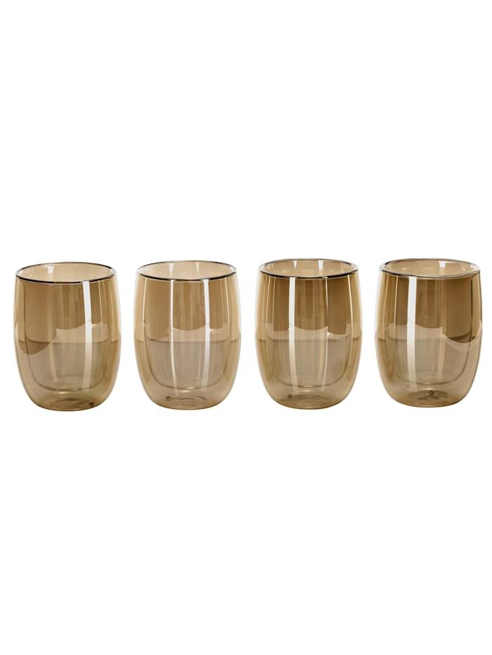 IMPRESSIONEN living Glas-Set, 4-tlg., goldfarben/bernsteinfarben