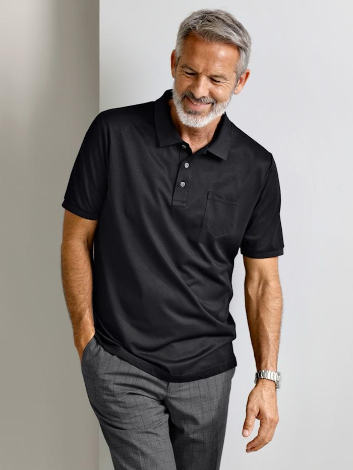 Babista Premium Poloshirt mit feinster Seide, Schwarz