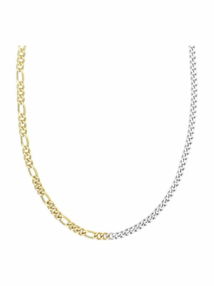 Kette für Damen, Sterling Silber 925 teil-vergoldet