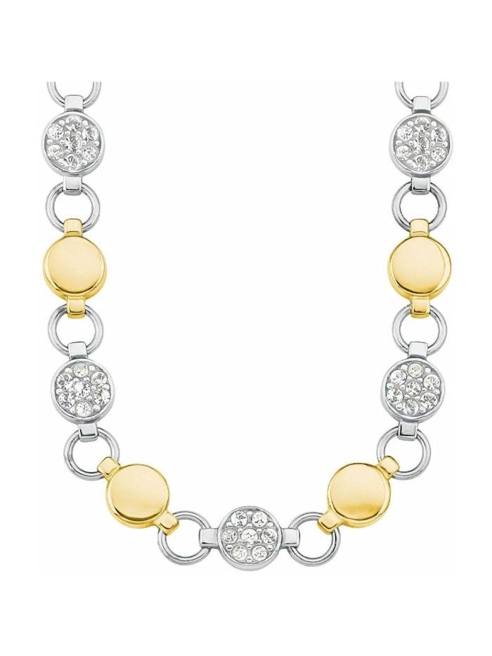 s.Oliver Collier für Damen aus Edelstahl mit IP Gold besetzt mit Kristallen von Swarovski®, Silber