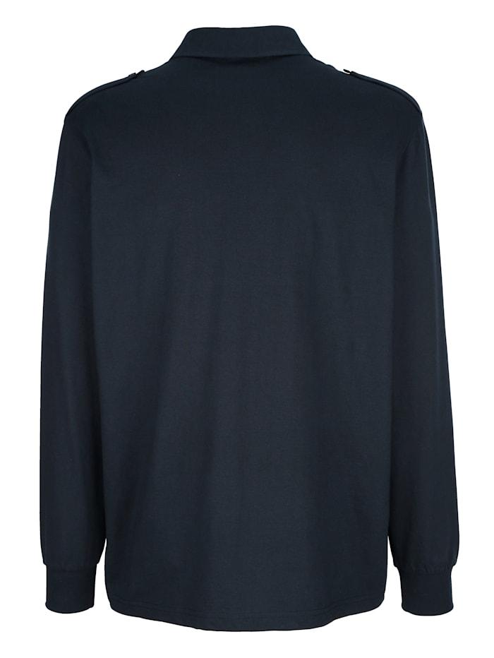 Poloshirt mit Schulterklappen