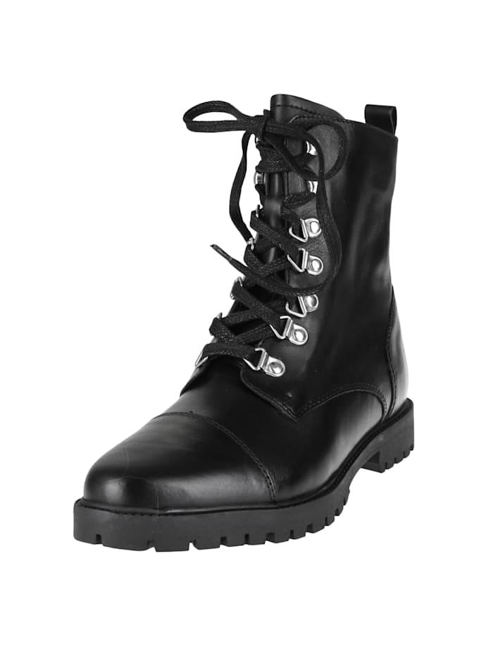 COX Schnürstiefelette Schnür-Boots, schwarz