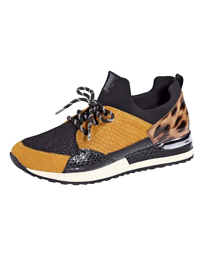 Remonte Sneaker in modieuze kleuren, Zwart
