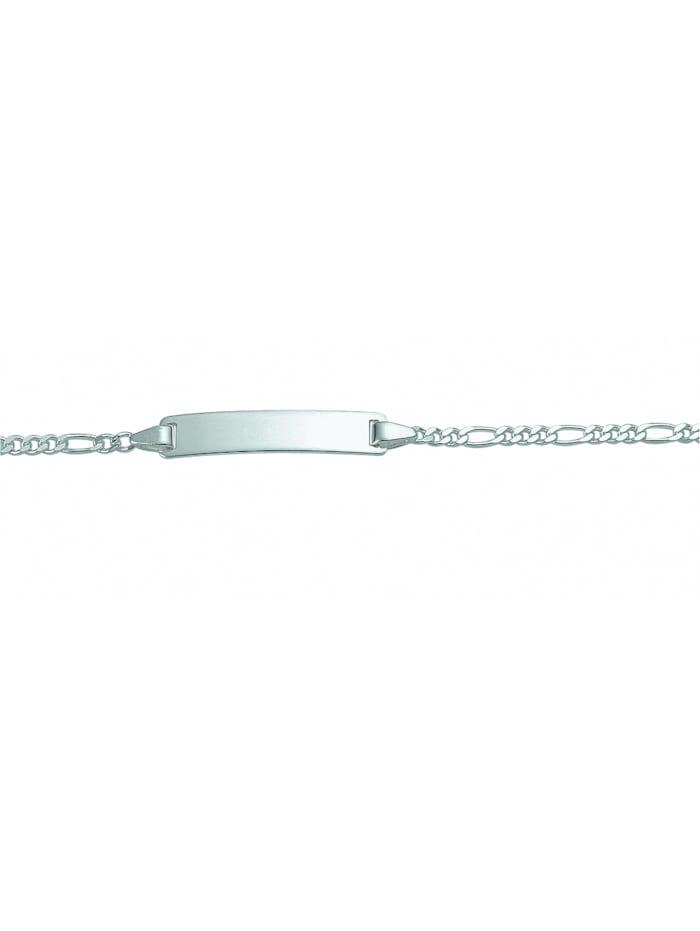 1001 Diamonds Damen Silberschmuck 925 Silber Figaro Armband 18 cm Ø 2,3 mm, silber