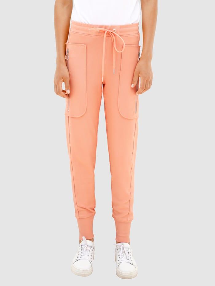 Dress In Hose mit Bündchem am Beinabschluss, Apricot
